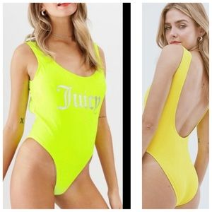 NWT Juicy Couture Neon One Piece Small